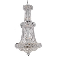 Elegant Lighting Belenus 32 Light Foyer in Chrome with Elegant Cut Clear Crystal ECA2G36C/EC