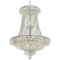 Elegant Lighting Belenus 22 Light Foyer in Chrome with Royal Cut Clear Crystal ECA2G36SC/RC