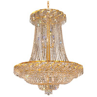 Elegant Lighting Belenus 22 Light Foyer in Gold with Royal Cut Clear Crystal ECA2G36SG/RC