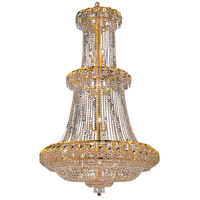 Elegant Lighting Belenus 32 Light Foyer in Gold with Swarovski Strass Clear Crystal ECA2G42G/SS