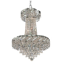 Elegant Lighting Belenus 6 Light Dining Chandelier in Chrome with Royal Cut Clear Crystal ECA4D18C/RC