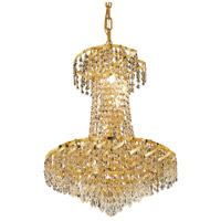 Elegant Lighting Belenus 6 Light Dining Chandelier in Gold with Swarovski Strass Clear Crystal ECA4D18G/SS