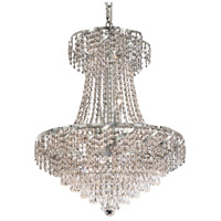 Elegant Lighting Belenus 11 Light Dining Chandelier in Chrome with Elegant Cut Clear Crystal ECA4D22C/EC