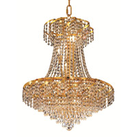 Elegant Lighting Belenus 11 Light Dining Chandelier in Gold with Royal Cut Clear Crystal ECA4D22G/RC alternative photo thumbnail