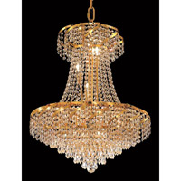 Elegant Lighting Belenus 11 Light Dining Chandelier in Gold with Spectra Swarovski Clear Crystal ECA4D22G/SA alternative photo thumbnail