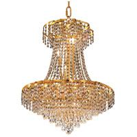 Elegant Lighting Belenus 11 Light Dining Chandelier in Gold with Swarovski Strass Clear Crystal ECA4D22G/SS
