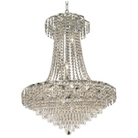Elegant Lighting Belenus 15 Light Dining Chandelier in Chrome with Elegant Cut Clear Crystal ECA4D26C/EC