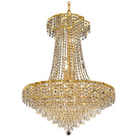 Elegant Lighting Belenus 15 Light Dining Chandelier in Gold with Swarovski Strass Clear Crystal ECA4D26G/SS