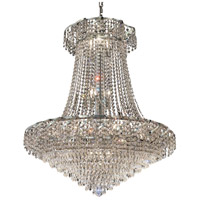 Elegant Lighting Belenus 18 Light Dining Chandelier in Chrome with Elegant Cut Clear Crystal ECA4D30C/EC