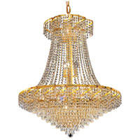 Elegant Lighting Belenus 18 Light Dining Chandelier in Gold with Elegant Cut Clear Crystal ECA4D30G/EC