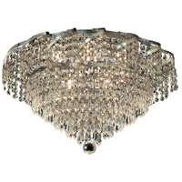 Elegant Lighting Belenus 6 Light Flush Mount in Chrome with Elegant Cut Clear Crystal ECA4F16C/EC