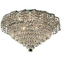 Elegant Lighting Belenus 8 Light Flush Mount in Chrome with Swarovski Strass Clear Crystal ECA4F20C/SS