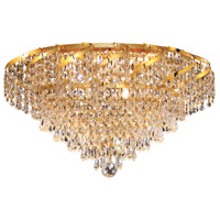 Elegant Lighting Belenus 8 Light Flush Mount in Gold with Elegant Cut Clear Crystal ECA4F20G/EC