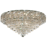 Elegant Lighting Belenus 10 Light Flush Mount in Chrome with Elegant Cut Clear Crystal ECA4F26C/EC