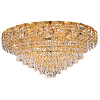 Elegant Lighting Belenus 10 Light Flush Mount in Gold with Elegant Cut Clear Crystal ECA4F26G/EC