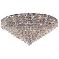 Elegant Lighting Belenus 12 Light Flush Mount in Chrome with Elegant Cut Clear Crystal ECA4F30C/EC