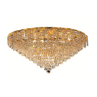 Elegant Lighting Belenus 12 Light Flush Mount in Gold with Royal Cut Clear Crystal ECA4F30G/RC alternative photo thumbnail