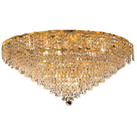 Elegant Lighting Belenus 12 Light Flush Mount in Gold with Swarovski Strass Clear Crystal ECA4F30G/SS