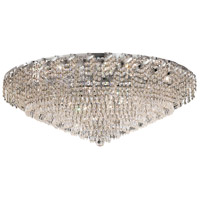 Elegant Lighting Belenus 28 Light Flush Mount in Chrome with Elegant Cut Clear Crystal ECA4F36C/EC