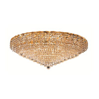 Elegant Lighting ECA4F36G/SA Belenus 20 Light 36 inch Gold Flush Mount Ceiling Light in Spectra Swarovski alternative photo thumbnail