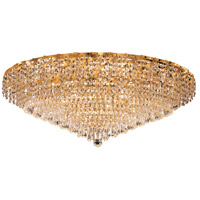 Elegant Lighting Belenus 28 Light Flush Mount in Gold with Elegant Cut Clear Crystal ECA4F36G/EC