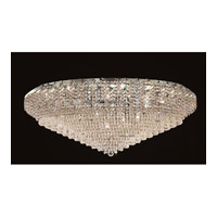 Elegant Lighting ECA4F48C/EC Belenus 36 Light 48 inch Chrome Flush Mount Ceiling Light in Elegant Cut alternative photo thumbnail