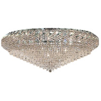Belenus 36 Light 48 inch Chrome Flush Mount Ceiling Light in Swarovski Strass