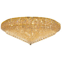 Belenus 36 Light 48 inch Gold Flush Mount Ceiling Light in Swarovski Strass