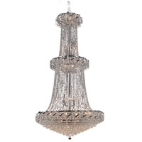 Elegant Lighting Belenus 32 Light Foyer in Chrome with Elegant Cut Clear Crystal ECA4G36C/EC