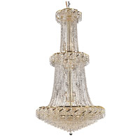Elegant Lighting Belenus 32 Light Foyer in Gold with Spectra Swarovski Clear Crystal ECA4G36G/SA