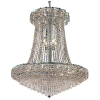 Elegant Lighting Belenus 22 Light Foyer in Chrome with Royal Cut Clear Crystal ECA4G36SC/RC