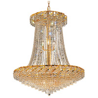 Elegant Lighting Belenus 22 Light Foyer in Gold with Elegant Cut Clear Crystal ECA4G36SG/EC