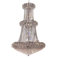 Elegant Lighting Belenus 32 Light Foyer in Chrome with Royal Cut Clear Crystal ECA4G42C/RC
