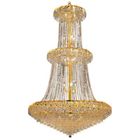 Elegant Lighting Belenus 32 Light Foyer in Gold with Royal Cut Clear Crystal ECA4G42G/RC