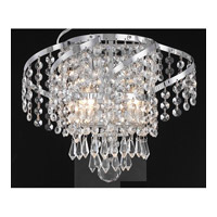 Elegant Lighting Belenus 2 Light Wall Sconce in Chrome with Elegant Cut Clear Crystal ECA4W12C/EC alternative photo thumbnail