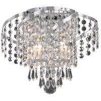 Elegant Lighting Belenus 2 Light Wall Sconce in Chrome with Elegant Cut Clear Crystal ECA4W12C/EC
