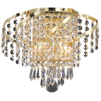 Elegant Lighting Belenus 2 Light Wall Sconce in Gold with Elegant Cut Clear Crystal ECA4W12G/EC