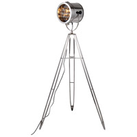 Ansel Tripod 61 inch 40 watt Chrome Floor Lamp Portable Light, Urban Classic