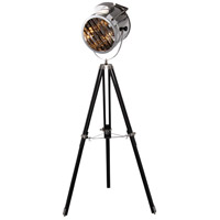 Ansel Tripod 67 inch 40 watt Chrome and Black Floor Lamp Portable Light, Urban Classic
