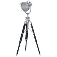 Elegant Lighting Ansel Tripod 1 Light Floor Lamp in Chrome and Black FL1205