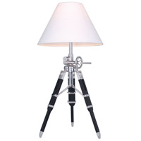 Ansel Tripod 36 inch 40 watt Chrome and Black Floor Lamp Portable Light, Urban Classic