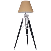 Urban Classic by Elegant Lighting Ansel Tripod 1 Light Floor Lamp in Chrome and Black FL1208