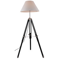 Ansel Tripod 63 inch 40 watt Chrome and Black Floor Lamp Portable Light, Urban Classic