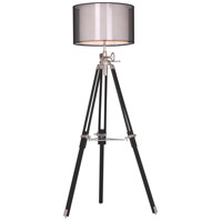 Ansel Tripod 73 inch 40 watt Chrome and Black Floor Lamp Portable Light, Urban Classic
