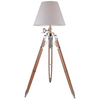Urban Classic by Elegant Lighting Ansel Tripod 1 Light Floor Lamp in Chrome and Black FL1212
