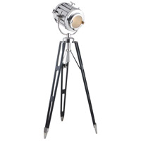 Elegant Lighting FL1214 Ansel Tripod 71 inch 40 watt Chrome and Black Floor Lamp Portable Light, Urban Classic