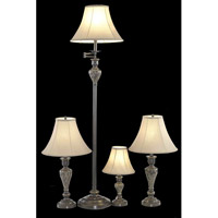 Elegant Lighting Belmont 1 Light Table Floor Lamp Set in Antique Copper FL3033(SET)