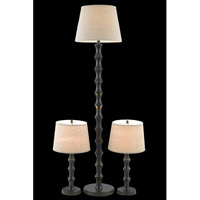 Elegant Lighting Belmont 1 Light Table Floor Lamp Set in Antique Black FL3035(SET)