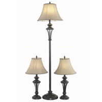 Elegant Lighting Belmont 1 Light Table Floor Lamp Set in Antique Copper FL3036(SET)