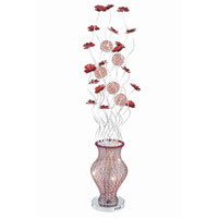 Elegant Lighting South Beach 8 Light Floor Lamp in Red and Silver FL4001